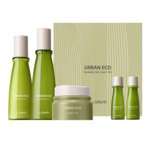 The Saem Urban Eco Harakeke Skin Care 3 Set Набор уходовый с экстрактом новозеландского льна