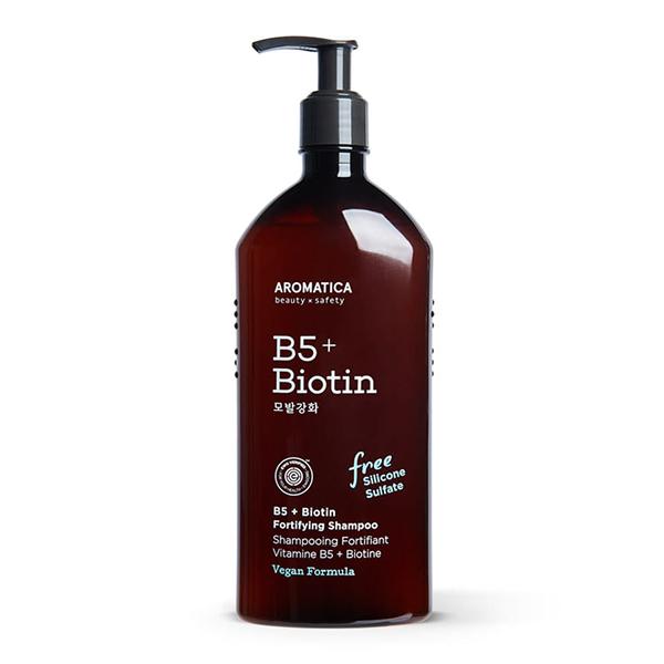 Aromatica B5+Biotin Fortifying Shampoo Шампунь с витамином В5 и биотином, 400 мл