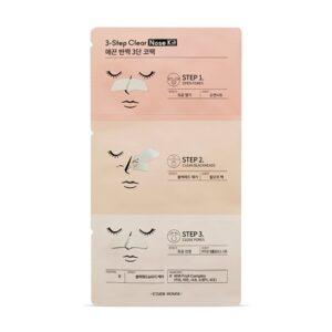 Etude House 3-Step Clear Nose Kit Набор для очищения чёрных точек