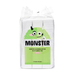 Etude House Monster Cleansing Cotton Ватные квадраты, 408 шт