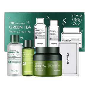 Tony Moly The Chok Chok Green Tea Watery Cream Set Подарочный набор средств с зеленым чаем
