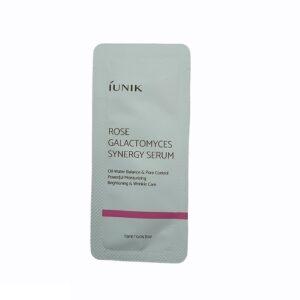 Iunik Rose Galactomyces Synergy Serum Сыворотка с розовой водой и экстрактом галактомисиса, 1.5 мл