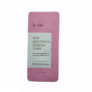 Iunik Rose Galactomyces Essential Toner Тонер с розовой водой и галактомисисом, 1 мл