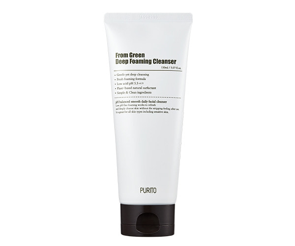 Purito From Green Deep Foaming Cleanser Пенка для умывания, 150 мл