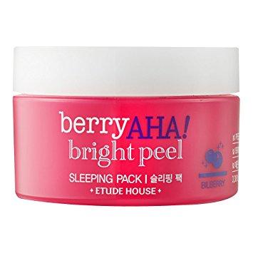Etude House Berry AHA Bright Peel Sleeping Pack Ночная маска с эффектом пилинга, 100 мл
