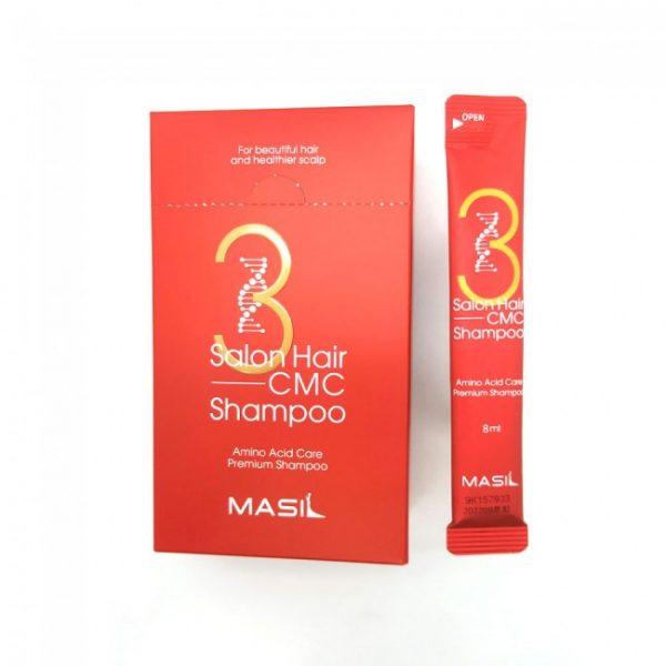 Masil 3 Salon Hair CMC Shampoo Pouch Восстанавливающий шампунь с аминокислотами