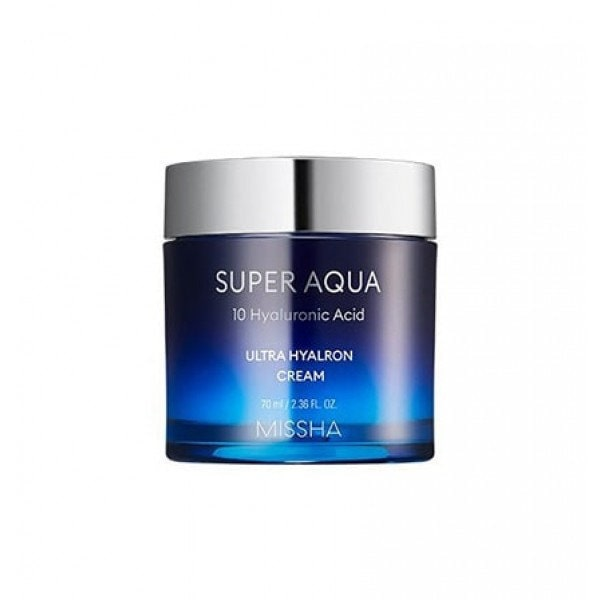 Missha Super Aqua 10 Hyaluronic Acid Ultra Hyaluronic Cream Увлажняющий крем, 70 мл