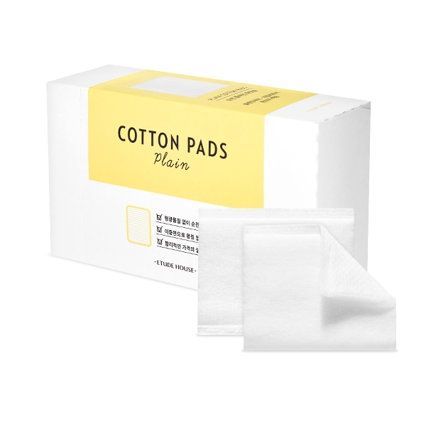 Etude House Cotton Pads Plain Ватные салфетки для лица, 80 шт