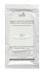 La'dor Triplex Natural Shampoo Безсульфатный органический шампунь с эфирными маслами, 10 мл
