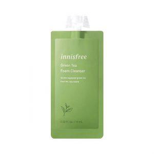 Innisfree Green Tea Foam Cleanser Пенка с экстрактом зеленого чая, 10 мл