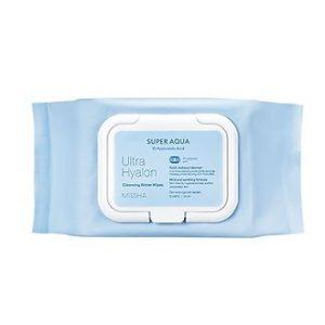 Missha Super Aqua Ultra Hyalron Cleansing Water Wipes Очищающие салфетки 30 шт