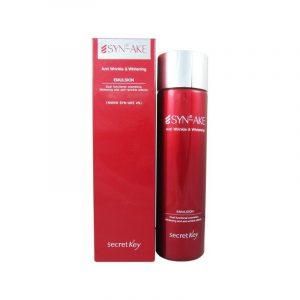 Secret Key Syn-Ake Anti Wrinkle & Whitening Emulsion Антивозрастная эмульсия со змеиным ядом, 150 мл