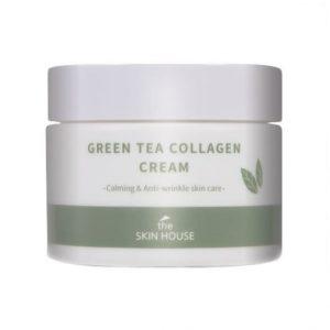The Skin House Green Tea Collagen Cream Успокаивающий крем на основе коллагена и экстракта зелёного чая, 50 мл