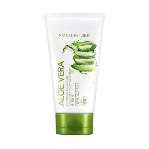 Nature Republic Soothing & Moisture Aloe Vera Foam Cleanser Пенка с экстрактом алоэ
