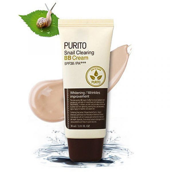 Purito Snail Clearing BB Cream ВВ Крем с экстрактом улитки, 30 мл