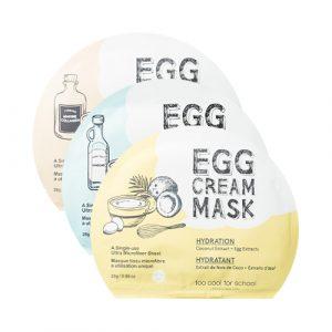 Too Cool for School Egg Cream Mask Тканевая яичная маска