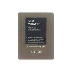 The saem Gem Miracle Black Pearl O2 Bubble Mask Кислородная маска с экстрактом черного жемчуга