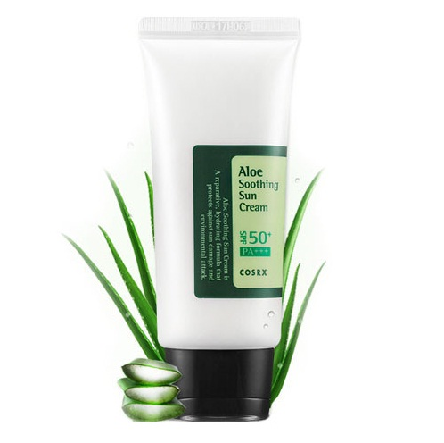 COSRX Aloe Soothing Sun Cream SPF50 Солнцезащитный крем с экстрактом алоэ, 50 мл