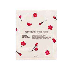 HYGGEE Active Red Flower Mask Тканевая маска с экстрактом цветков абрикоса