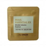 The Saem Snail Essential EX Wrinkle Solution Essence Антивозрастная эссенция с экстрактом улитки