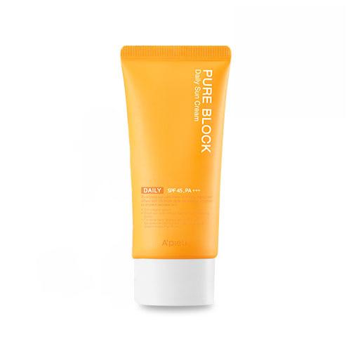 A'pieu Pure Block Natural Daily Sun Cream SPF45 Солнцезащитный крем, 50 мл