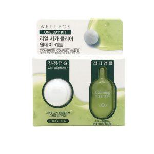 WELLAGE Real Cica Clear One Day Kit Комплекс для увлажнения и успокоения кожи