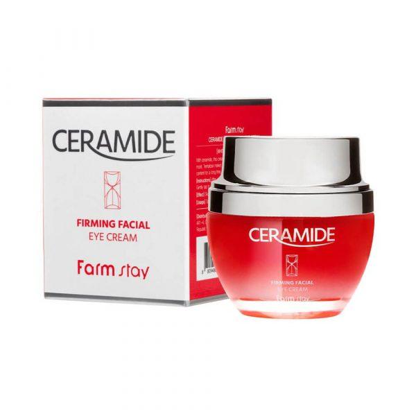 Farmstay Ceramide Firming Facial Eye Cream Крем для кожи вокруг глаз с керамидами, 50 мл