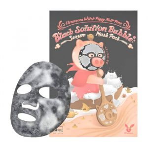 Elizavecca Black Solution Bubble Serum Mask Pack Тканевая пузырьковая маска