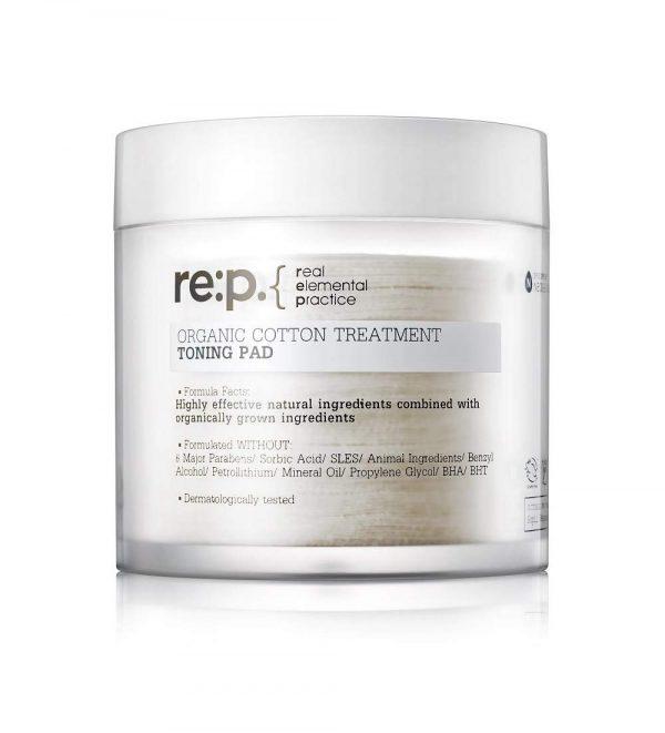 RE:P Organic Cotton Treatment Toning Pad Тонизирующие пэды, 90 шт