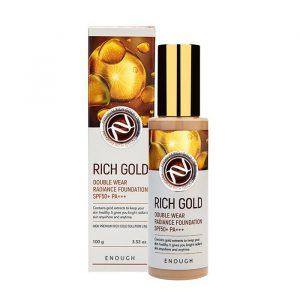 Enough RICH GOLD Double Wear Radiance Foundation Омолаживающий тональный крем с эффектом сияния, 100 мл
