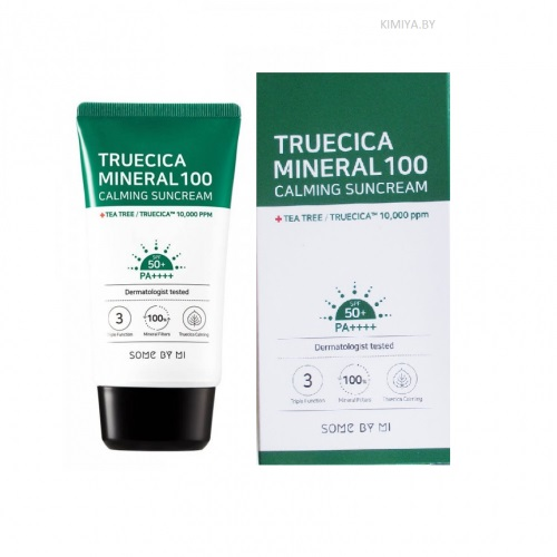 Some By Mi Truecica Mineral 100 Calming Suncream SPF50 Солнцезащитный крем, 50 мл