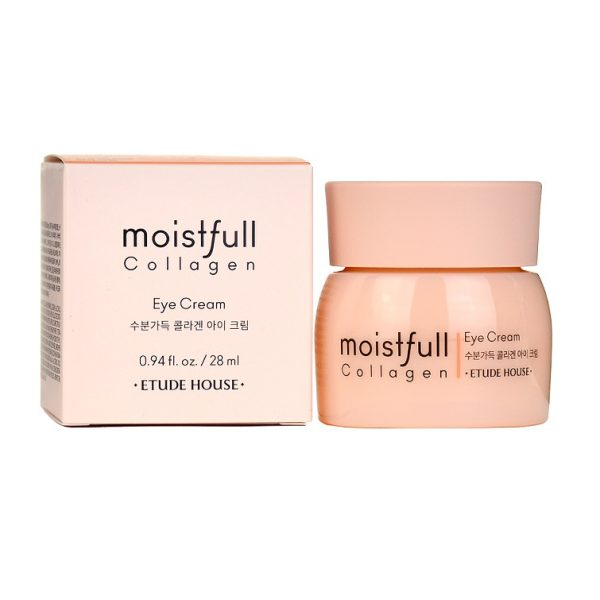 Etude House Moistfull Collagen Eye Cream Увлажняющий крем с коллагеном для кожи вокруг глаз, 28 мл
