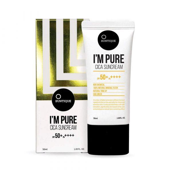 Suntique I'm Pure Cica Suncream SPF 50 Солнцезащитный крем для чувствительной кожи, 50 мл