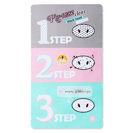 Holika Holika Pig-nose Clear Black Head 3-step Kit Набор для удаления черных точек