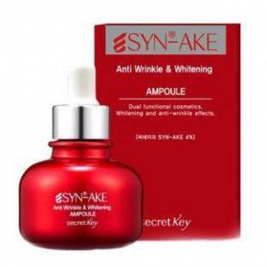 Secret Key Syn-Ake Anti Wrinkle and Whitening Ampoule Антивозрастная отбеливающая сыворотка, 30 мл