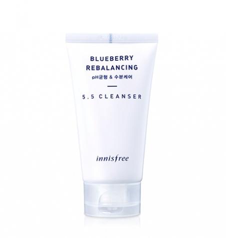 Innisfree Blueberry Rebalancing 5.5 Cleanser Балансирующая пенка с экстрактом черники, 100 мл