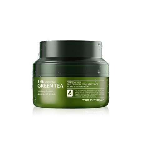 Tony Moly The Chok Chok Green Tea Watery Cream Увлажняющий крем с экстрактом зеленого чая, 60 мл